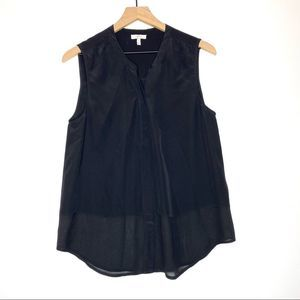 Joie Button Up Tank Blouse